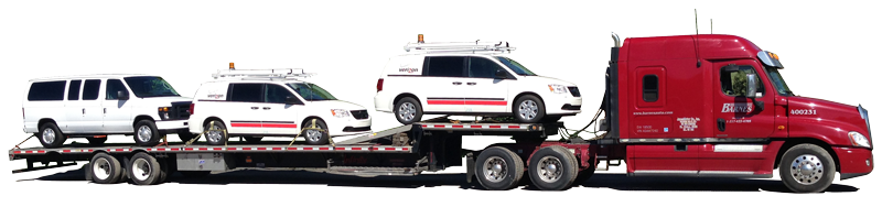 Rest assured your vehicle will be safe, secure  and will arrive at it's destination when we say it will.